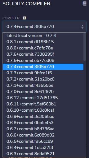 REmixが表示するコンパイラー